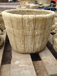 Stone Barrel Planter