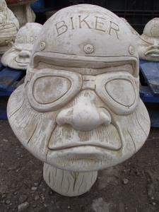 Biker Stone Mushroom Head Ornament