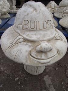 Stone Builder Mushroom Ornament