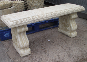 Large Classic Design Stone Garden Bench