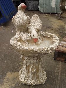 Stone Duck Bird Bath