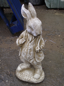 Peter Rabbit Inspired Garden Statue