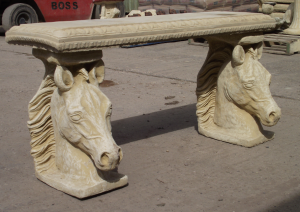 Stone Horse Bench Straight Top