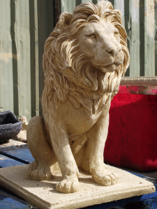 Very Large Stone Lion Statue