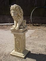 Stone Lion on a Plinth