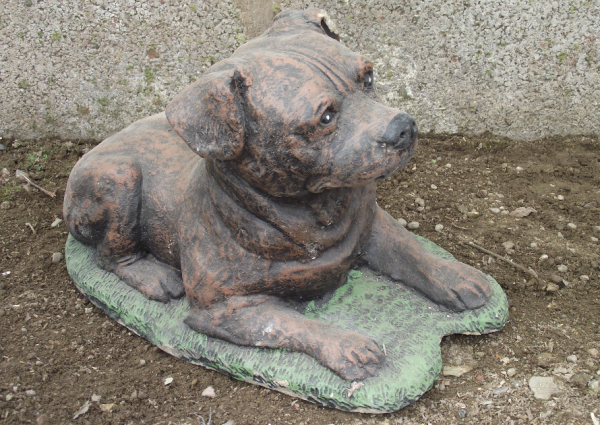 Staffordshire Bull Terrier Statue - Lying Down Staffy