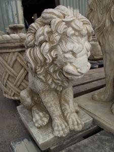 Medium Stone Lion Statue