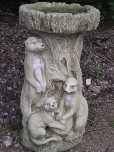 Meerkat Design Stone Bird Bath