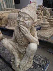 Large Stone Pixie Statue
