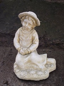 Stone Statue of a Girl Kneeling
