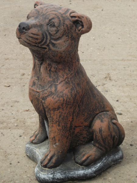 Staffordshire Bull Terrier Statue - Sitting Up Staffy